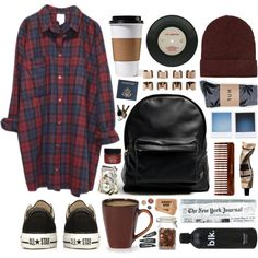 """Oversized flannels..."" by hanaglatison on Polyvore"