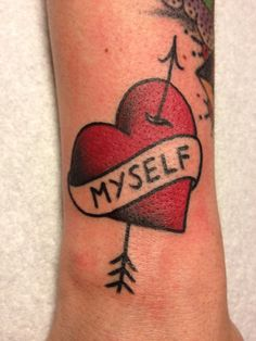 love yourself - 35  Awesome Heart Tattoo Designs  <3 <3