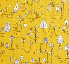 Klippan Moorland Yellow fabric available at The Swedish Fabric Company