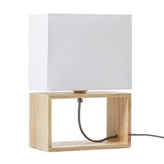 Quebec Table Lamp White