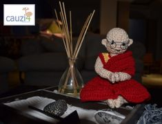 Happy Birthday To the 14th Dalai Lama, Tenzin Gyatso! #crochet #amigurumi