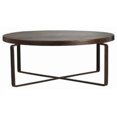 Rustic Brown coffee table - rubbed oil bronze finish goes with almost anything