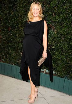 Kate Hudson - The eight-months pregnant actress worked nude slingback heels at Chanel's benefit dinner for the Natural Resources Defense Council's Ocean Initiative in Malibu