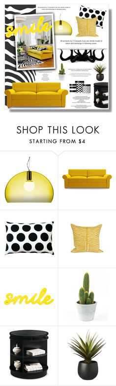 """""""Untitled #747"""" by intellectual-blackness on Polyvore featuring interior, interiors, interior design, home, home decor, interior decorating, Kartell, Joybird Furniture, Pillow Decor and Jayson Home"""