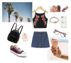 """""""summer vibes"""" by musicajla ❤ liked on Polyvore featuring Converse, BaubleBar, Lacoste L!VE, EyeBuyDirect.com, Gas Bijoux, STELLA McCARTNEY, LAQA & Co., tarte, Chanel and Summer"""