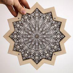 """star magic"" - 4 layers of lasercut birch wood by naked geometry"