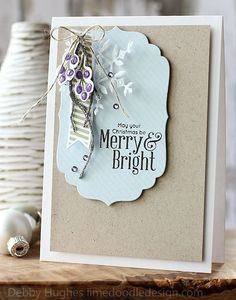 Wplus9 fresh cut florals, Simon Says Stamp merry trees, Kelly Purkey documented, Impression Obsession thin stripes;