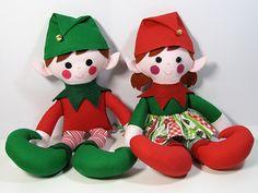 New Pdf doll Pattern  Elf-Doll-Christmas-Sewing-Pattern-twins