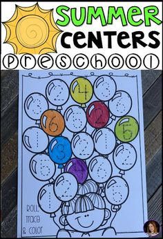 Summer Math and Literacy Centers and Hands-On Activitiesfor Preschool, Pre-K and 4K (Summer and Beach)