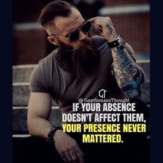 If your absence dose not affect them, your presence never mattered. - Learn how I made it to in one months with e-commerce! Wisdom Quotes, True Quotes, Great Quotes, Quotes To Live By, Motivational Quotes, Inspirational Quotes, Quotes Quotes, Strong Quotes, Positive Quotes