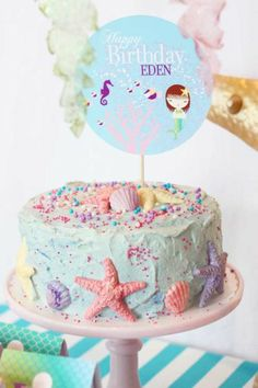 τουρτα με γοργονες - Mermaid Birthday Cake