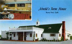 History Roundup: Arnold's Farm House, Red Hill, Tustin, etc. Orange County California, Vintage California, Windy Corner, Farmhouse Restaurant, Buena Park, History Facts, Vintage Photos, Diy, Mansions
