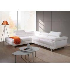 La pureté du Lotus s'offre à vous dans ce canapé ultra moderne, il est fait en simili cuir, de couleur blanche, doté d'un coffre de rangement dans lequel vou...