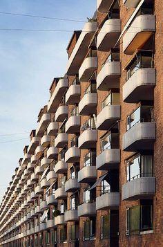 Vestersøhus housing, Copenhagen, by C.F. Møller & Kay Fisker