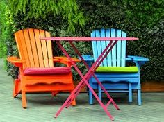 image result for painted outdoor furniture