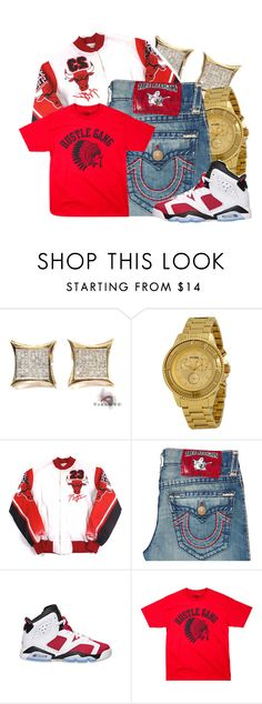 """Hustle Gang"" by dajvuuloaf ❤ liked on Polyvore featuring Versus, True Religion and Retrò"