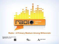 millennials-and-radio-3-13 by Mary Beth Garber via Slideshare