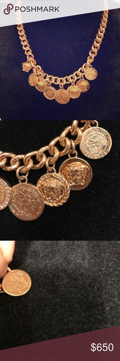 Authentic Versace coin necklace Authentic Versace coin necklace gold Jewelry Necklaces