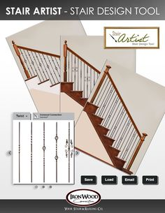 The Stair Artist Design Tool Allows You To Create Your Ideal Staircase.  With Over 25