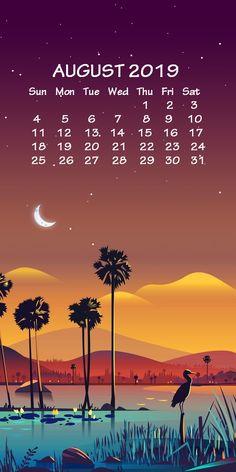iPhone August 2019 Calendar Wallpaper