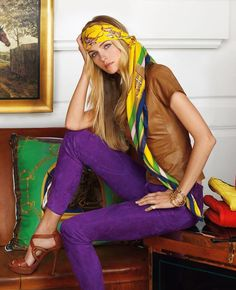 Ralph Lauren Blue Label Spring 2013 Vibrant hues and sleek fits provide a fresh take on the iconic equestrian style.