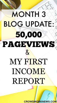 Find out how I got 50,000 page views in the third month of blogging and read my first Income report.