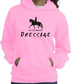 Dressage Letter Perfect Horse & Rider Pink Hoodie Charlie Horse Apparel #chapparel