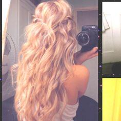 Messy big curls