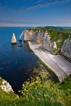The Cliffs At Etretat - France by  Floydian