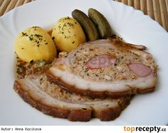 Bůček plněný,v marinádě pečený No Salt Recipes, Pork Recipes, Bucky, Brown Sugar, Camembert Cheese, French Toast, Meat, Breakfast, Food