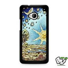 Old Starry Sun And Moon HTC G21,HTC ONE X,HTC ONE S,HTC ONE M7,HTC M8,HTC M8 Mini,HTC M9,HTC M9 Plus,HTC Desire Case