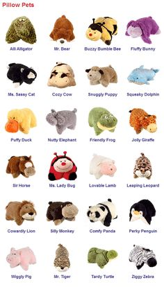 52 pillow pets ideas animal pillows