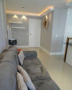 Just look at it - grey walls, light floor; Living Room Designs, Living Room Decor, Studio Loft, Ceiling Light Design, Design Case, Grey Walls, Small Apartments, Home And Living, Sweet Home