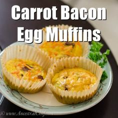 paleo carrot bacon egg muffins recipe