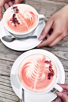 This Pretty Pink Rose Latte Is Here to Save You From Unicorn Fatigue