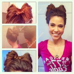 Bow hair. Check you youtube channel at LoveLaurenNicoleOffical