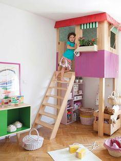 ¡El #dormitorio más divertido! Con muebles a medida #infantil #casita