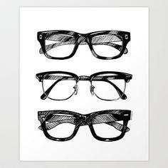 Go Hipster! Art Print by danilo agutoli - $20.00