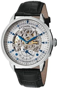 Best men's watch#Best holiday deal#Best holiday watch gift#Stuhrling Original Men's 133.33152 Symphony Aristocrat Executive Automatic Skeleton Silverstone Dial Watch