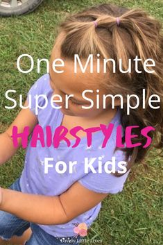 40 easy hairstyles for little girls. Stress free super simple one minute hairstyles for kids. Back to school hair ideas for girls on busy school days. Hairstyles for short hair to medium hair. Click through to see these simple hair ideas for your kids. Little Girl Short Hairstyles, Short Hair For Kids, Easy Toddler Hairstyles, Easy Hairstyles For School, Short Hair Styles Easy, Braids For Kids, Medium Hair Styles, Simple Hairstyles, Easy School Hair