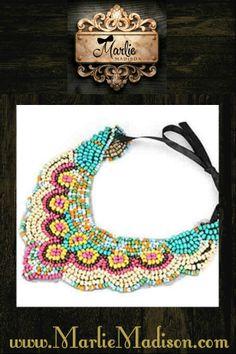 Sioux Hippie Bib Necklace http://www.marliemadison.com/accessories/jewelry/sioux-hippie-bib-necklace