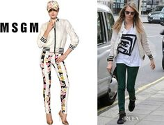 MSGM Italy $675 White Lace Spring Summer Varsity Jacket 42 6 Seen On Celebrity #MSGM #BasicJacket
