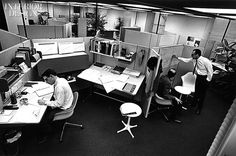 Herman Miller's Action Office System. First open plan panel system, 1968. (via Interior Design)