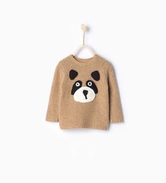 Knit sweater with face print from Zara
