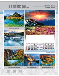 Kalender 2015 Desain Standar Full - AO 08 - Colorful World