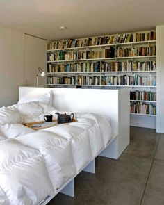 If this could be my bedroom... I would still need another room for more books.