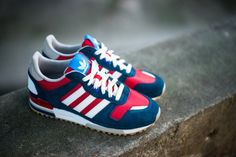 adidas Originals ZX 700 - Navy/Red/White