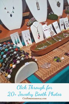 Click through for 20+ jewelry booth photos
