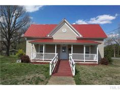 exterior color schemes with red roof. houses with red metal roof | 327 e second st, siler city, nc - exterior color schemes