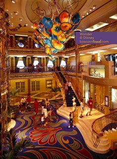Disney Cruise Line Wonder Lobby